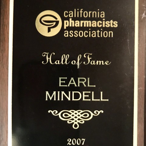 Earl Mindell California Pharmicists Association Hall of Fame