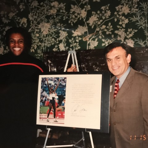 Earl Mindell with Carl Lewis