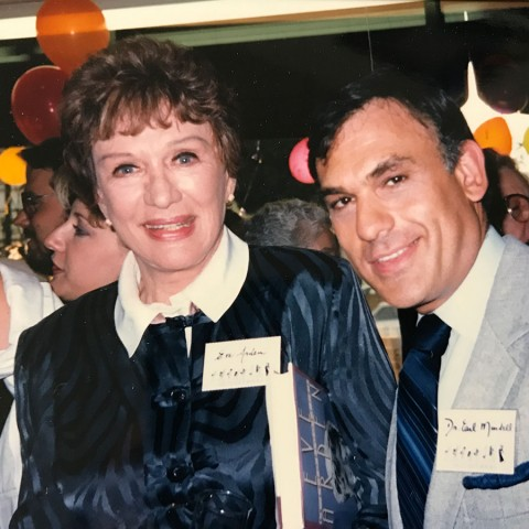Earl Mindell with Eve Arden