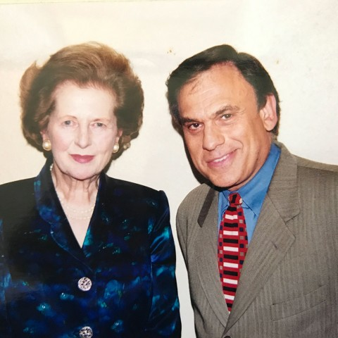 Earl Mindell with Margaret Thatcher