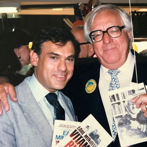 Earl Mindell with Ray Bradbury