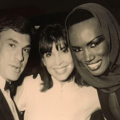 Earl Mindell with Talia Shire and Grace Jones